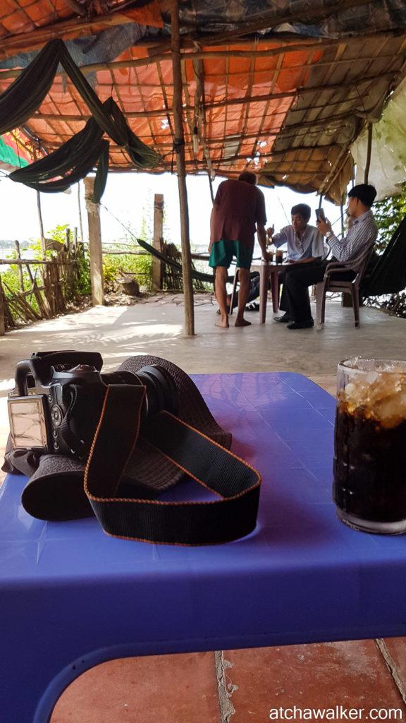 Black coffe with ice ! - Delta du Mékong.