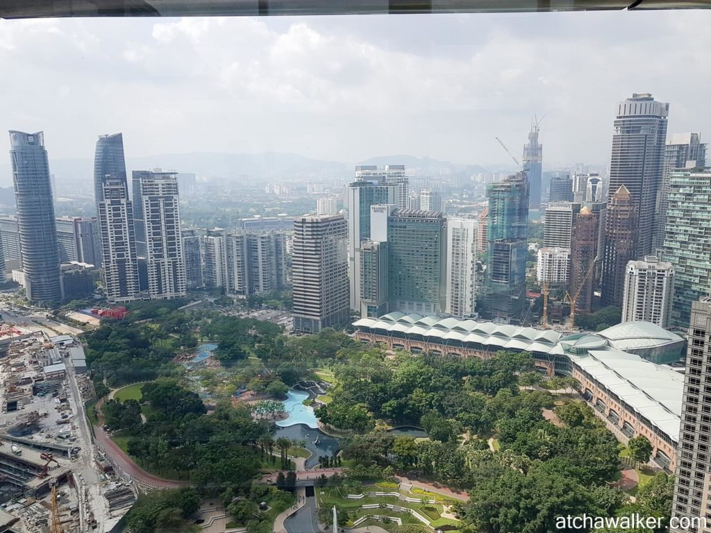 Vue de la passerelle - Petronas Towers - Kuala Lumpur