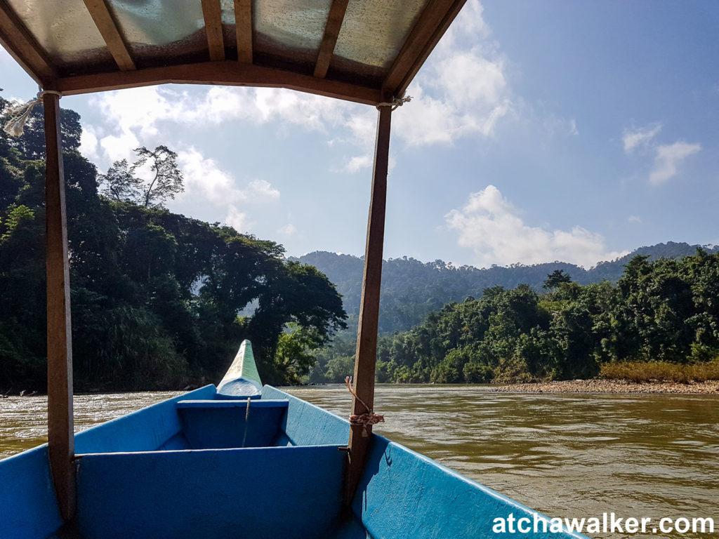 D'abord un peu de bateau pour s'enfoncer encore un peu plus dans la jungle - Taman Negara - Malaisie