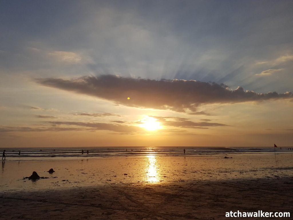 Couché de soleil à Kuta Beach - Bali - Indonésie