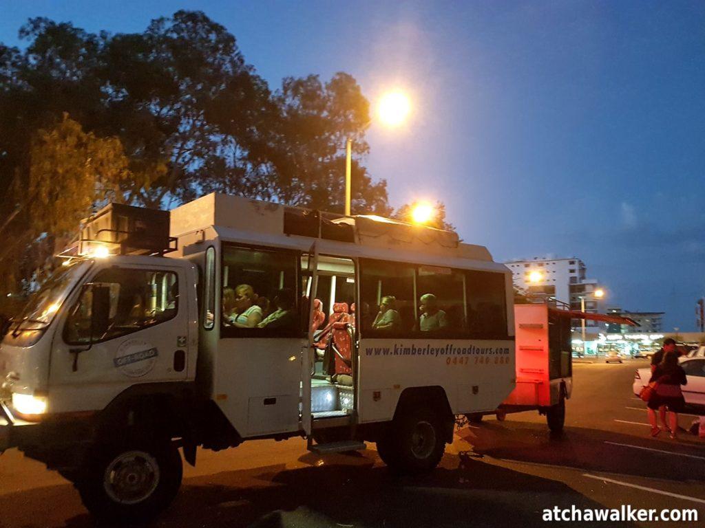 Le véhicule pour les 9 prochains jour en direction de Boome. En route pour l'aventure ! Darwin - Australie
