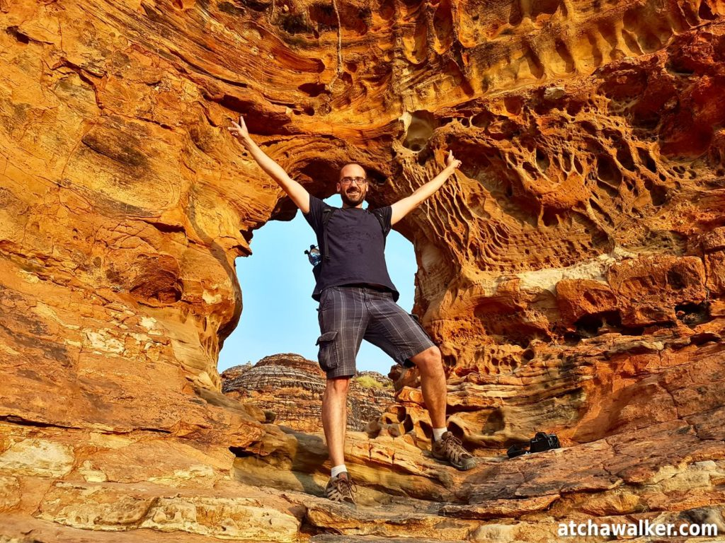 "Votre serviteur faisant le malin devant ""The Window"" - Picaninny - Purnululu National Park"