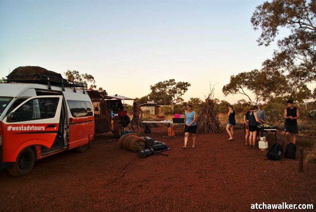 Pour cette deuxième nuit, toujours au milieu de la pampa mais dans un camping avec sanitaires!